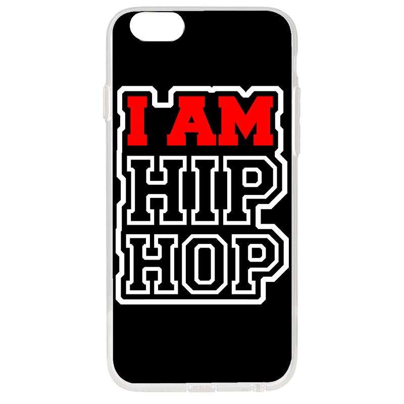 I am Hip Hop - iPhone 6 Plus Carcasa Transparenta Silicon