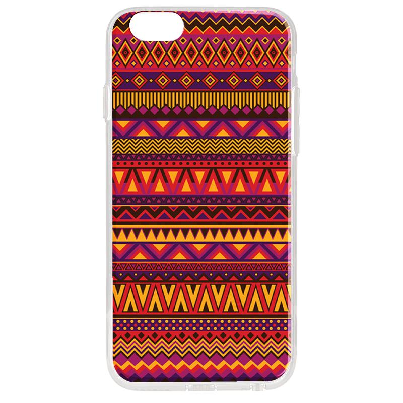Aztec Summer - iPhone 6 Plus Carcasa Transparenta Silicon