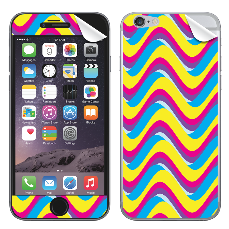 CMYK Waves - iPhone 6 Skin