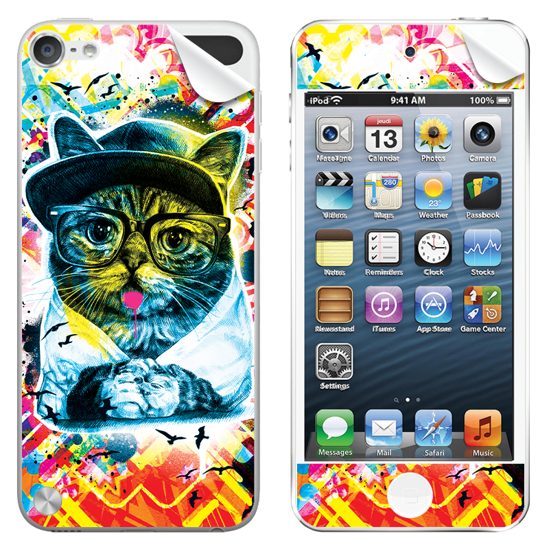Hipster Meow - Apple iPod Touch 5th Gen Skin