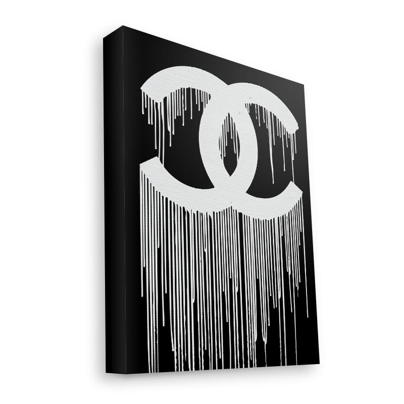 Chanel Drips - Canvas Art 35x30