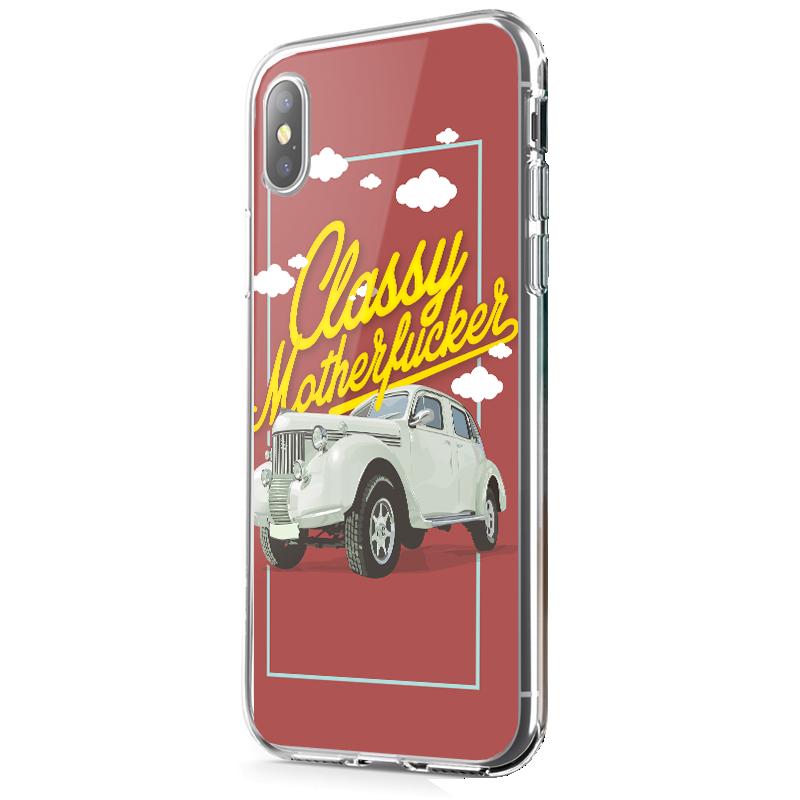 Classy Motherfucker - iPhone X Carcasa Transparenta Silicon