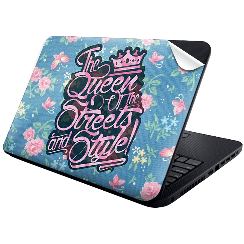 Queen of the Streets - Floral Blue - Laptop Generic Skin