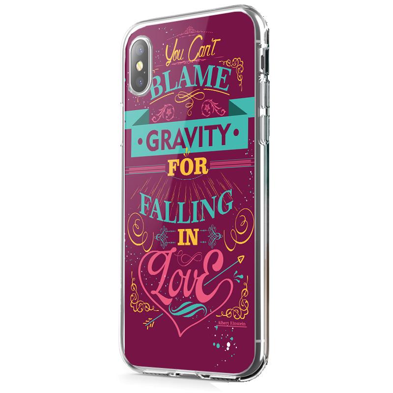 Falling in Love - iPhone X Carcasa Transparenta Silicon