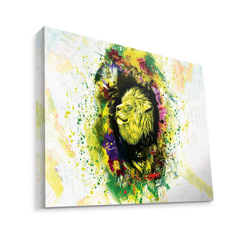Gold Lion - Canvas Art 35x30