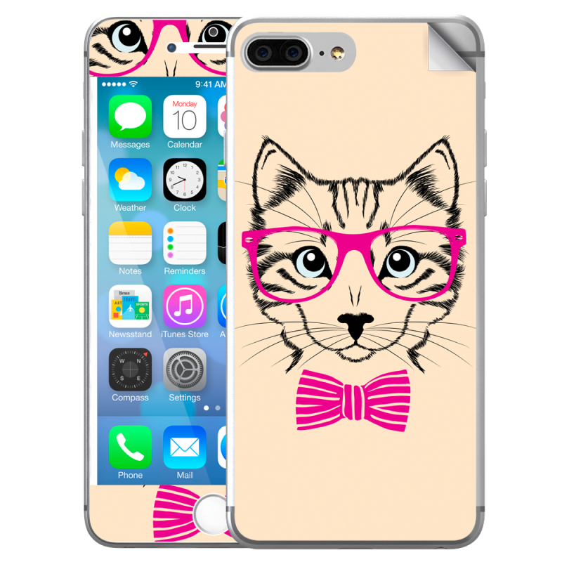 Hipster Cat - iPhone 7 Plus / iPhone 8 Plus Skin