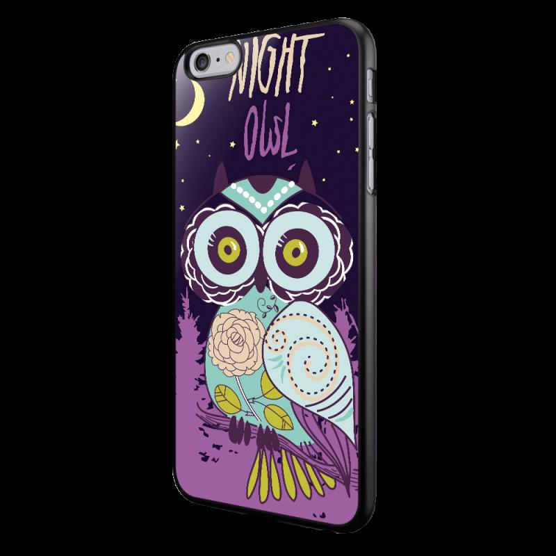 Night Owl - iPhone 6/6S Carcasa Neagra TPU