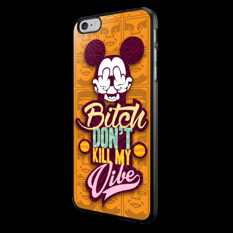 Bitch Don't Kill My Vibe - Obey - iPhone 6/6S Carcasa Neagra TPU