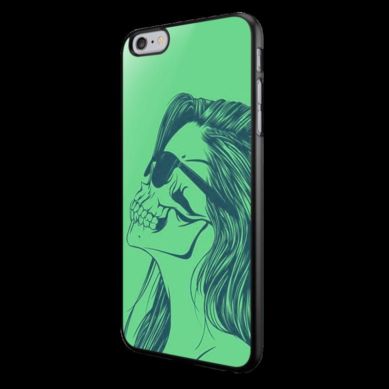 Skull Girl - iPhone 6/6S Carcasa Neagra TPU