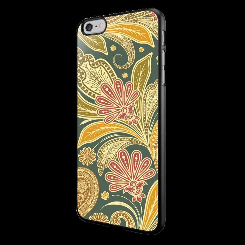 Floral Shapes - iPhone 6/6S Carcasa Neagra TPU
