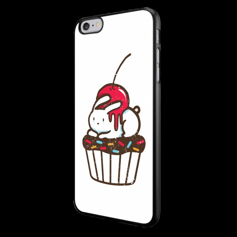 Cherry Bunny - iPhone 6/6S Carcasa Neagra TPU