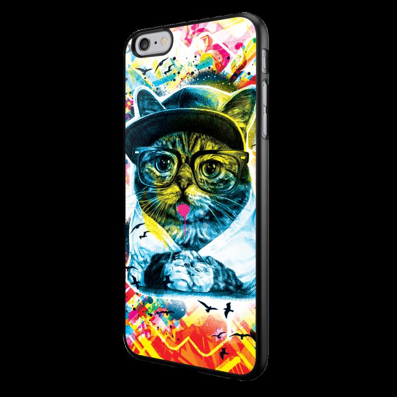 Hipster Meow - iPhone 6/6S Carcasa Neagra TPU