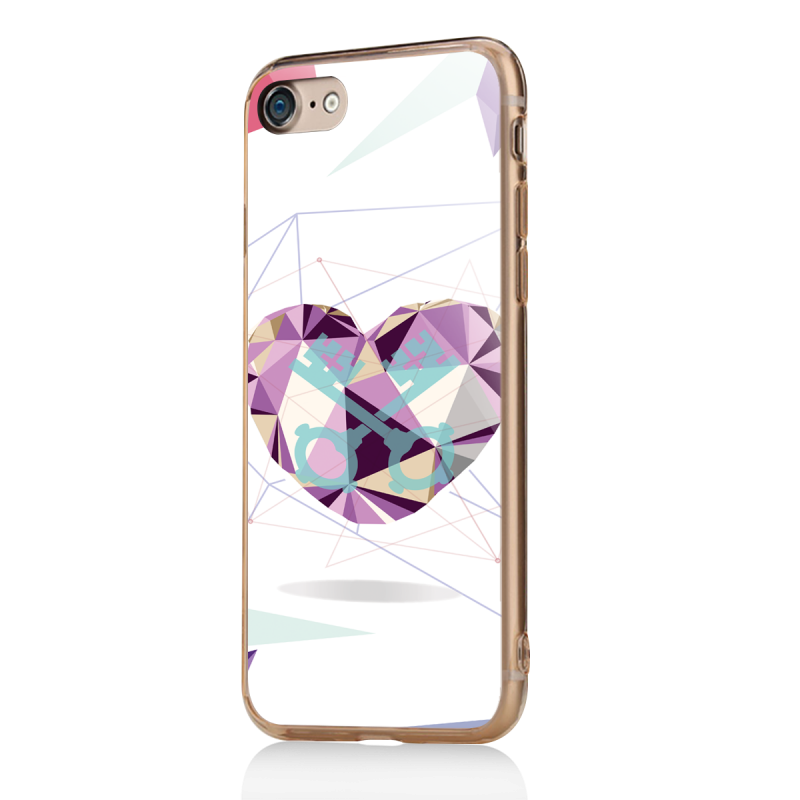 love keys iphone 7 iphone 8 carcasa transparenta silicon. Black Bedroom Furniture Sets. Home Design Ideas
