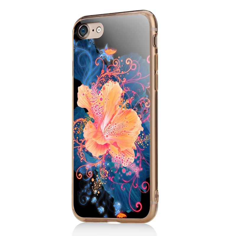 Abstract Flower - iPhone 7 / iPhone 8 Carcasa Transparenta Silicon