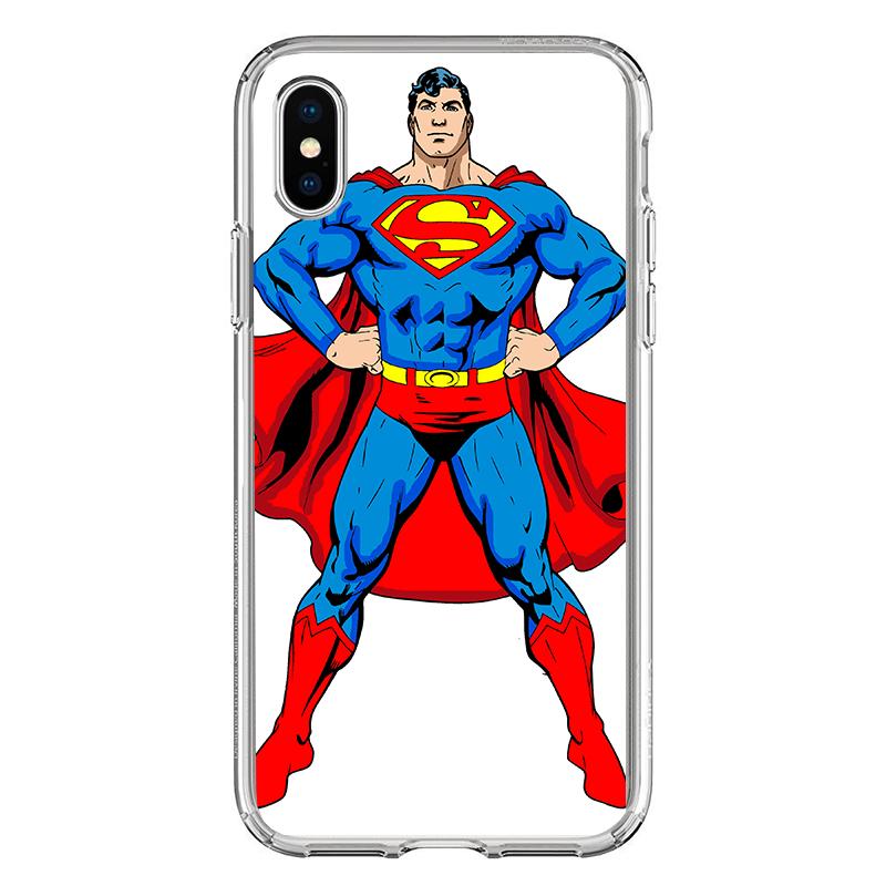 Superman - iPhone X Carcasa Transparenta silicon