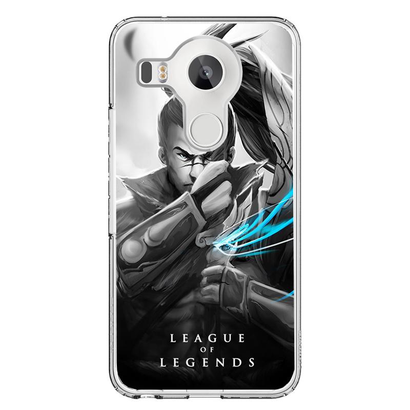 League of Legends Yasuo 2 - LG Nexus 5X Carcasa Transparenta Silicon