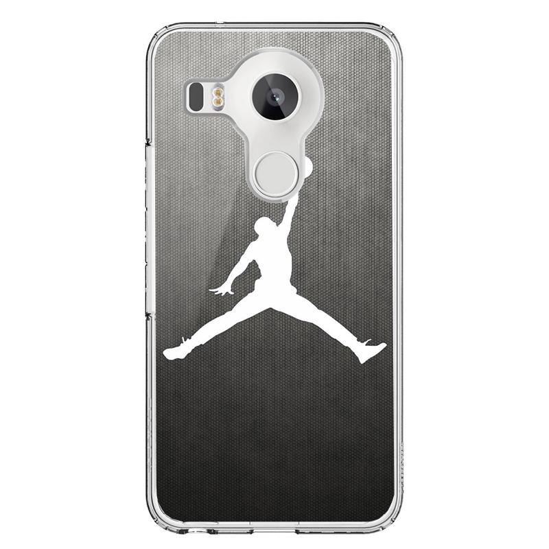 White Jordan - LG Nexus 5X Carcasa Transparenta Silicon