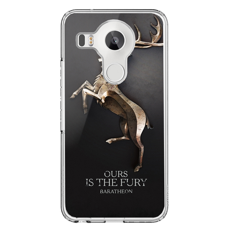 GoT House Baratheon - LG Nexus 5X Carcasa Transparenta Silicon