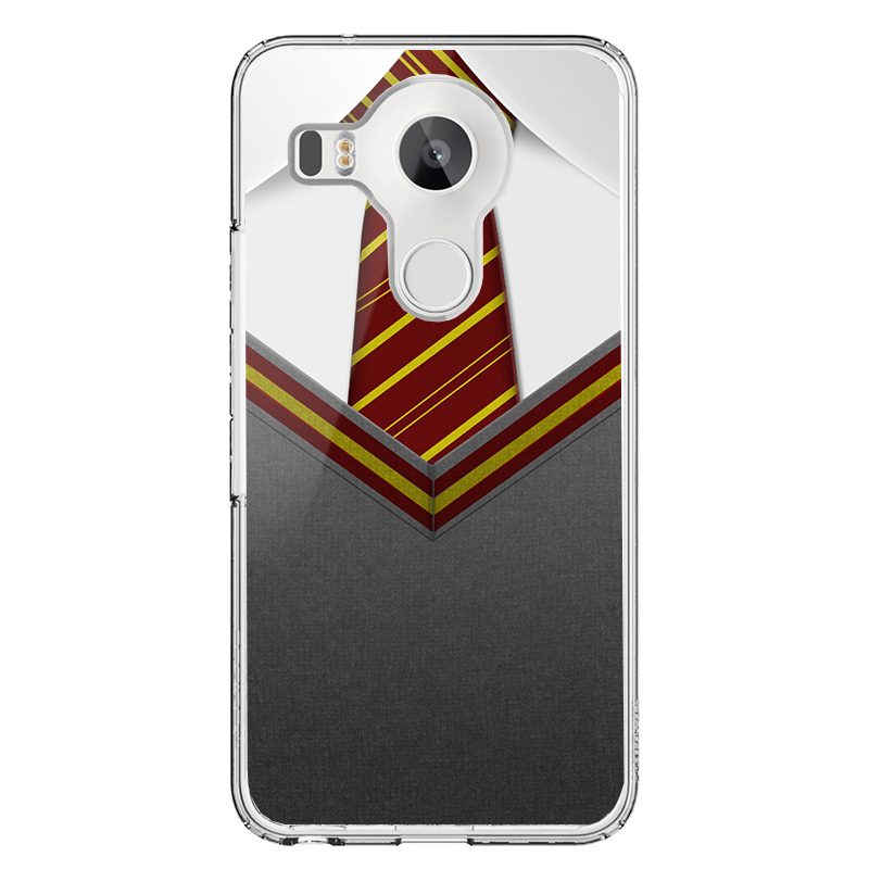 Harry Potter Tie - LG Nexus 5X Carcasa Transparenta Silicon