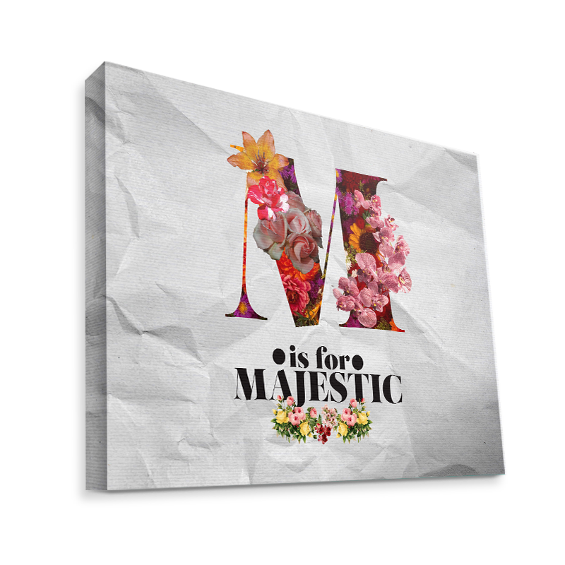 M is for Majestic 2 - Canvas Art 75x60