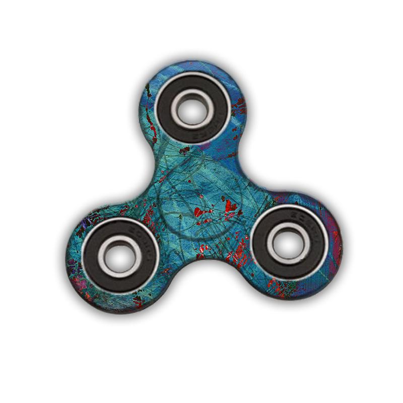Fidget Spinner - Metallic Scratch