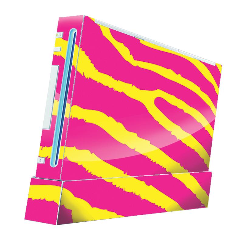 Model Zebra - Nintendo Wii Consola Skin