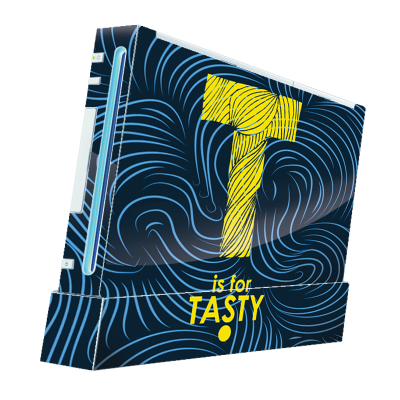 T is for Tasty - Nintendo Wii Consola Skin