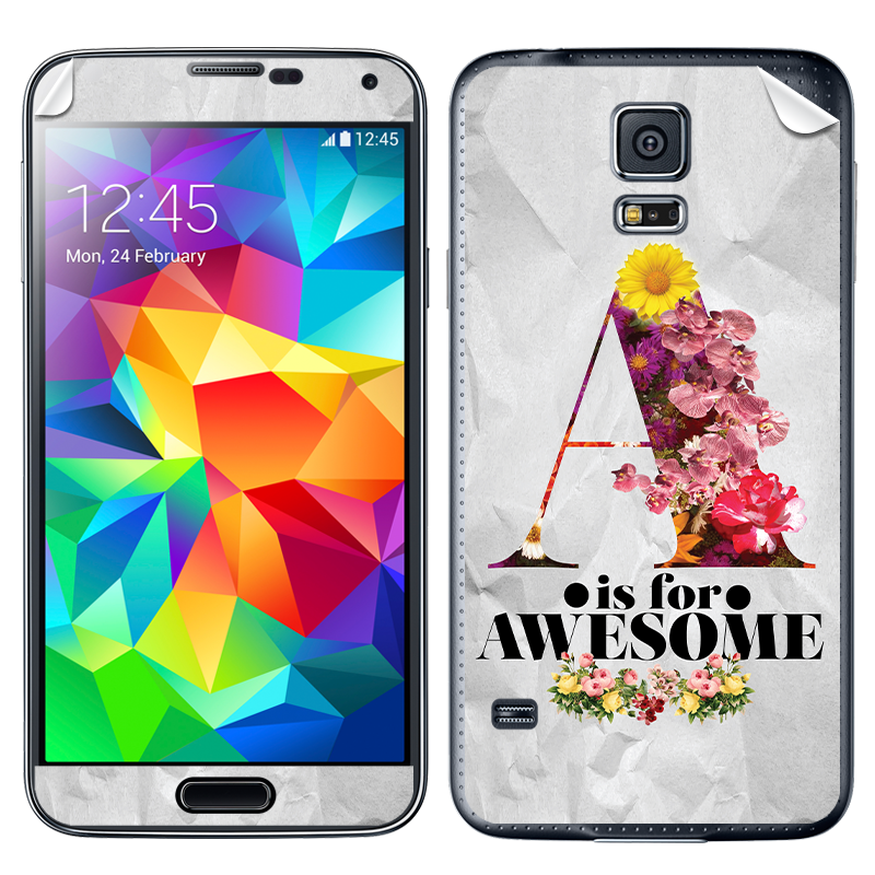 A is for Awesome - Samsung Galaxy S5 Skin