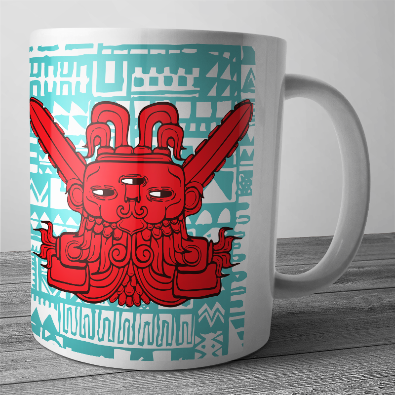 Cana personalizata - Red God