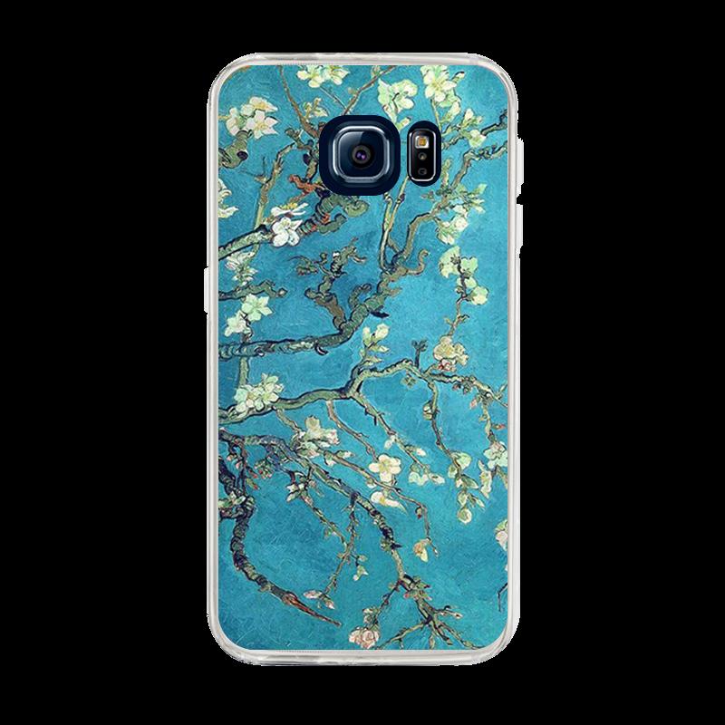 Van Gogh - Branches with Almond Blossom - Samsung Galaxy S6 Edge Plus Carcasa Silicon