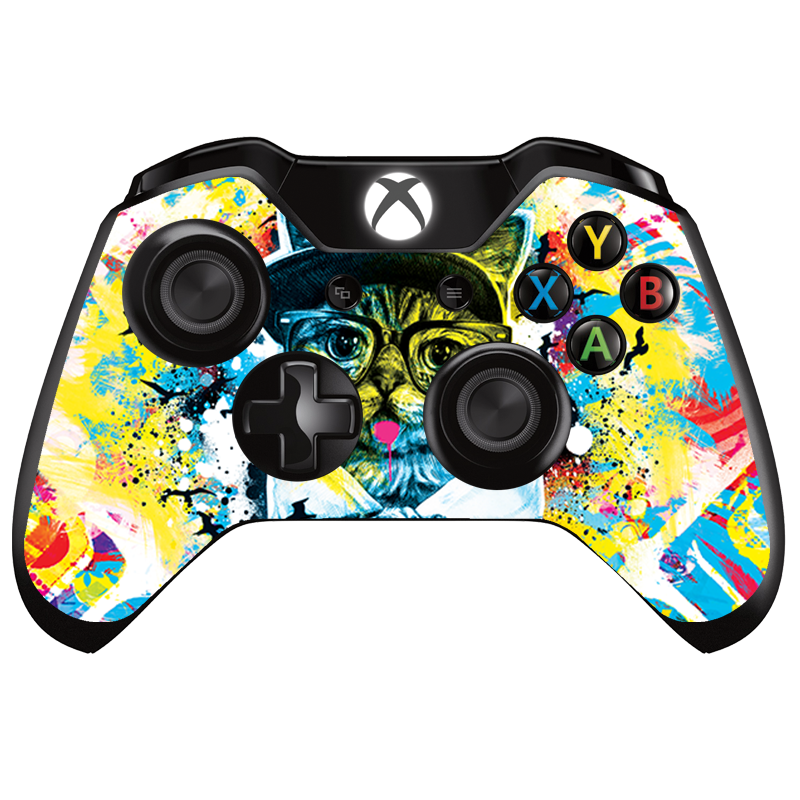 Hipster Meow - Xbox One Controller Skin