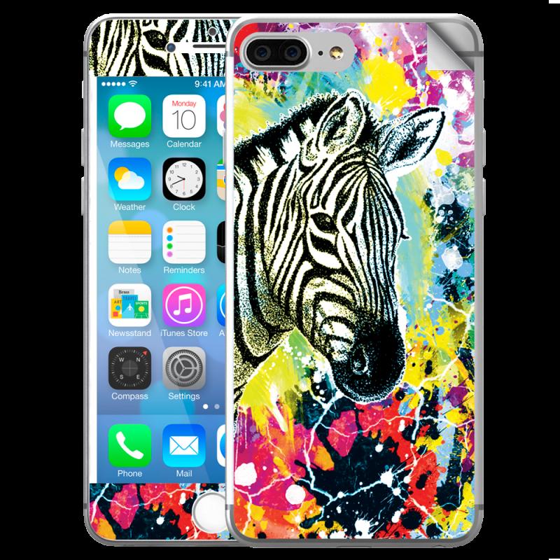 Zebra Splash - iPhone 7 Plus / iPhone 8 Plus Skin