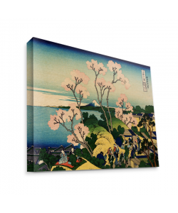 Hokusai - The Fuji from Gotenyama at Shinagawa on the Tokaido - Canvas Art 75x60