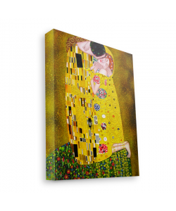 Gustav Klimt - The Kiss - Canvas Art 60x75
