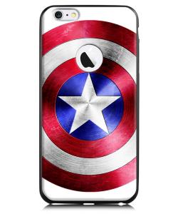 Captain America Logo - iPhone 6 Plus Carcasa TPU Premium Neagra