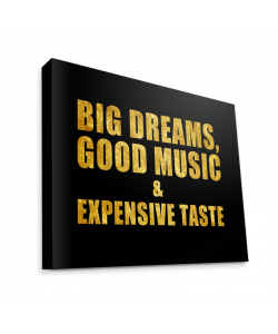 Good Music Black - Canvas Art 75x60
