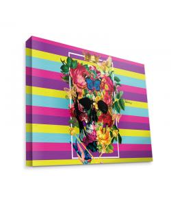 Floral Explosion Skull - Canvas Art 75x60