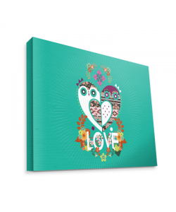 Owl Love - Canvas Art 75x60