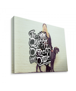 Queen of the Streets - Girl - Canvas Art 75x60