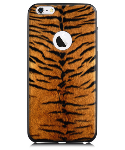 Tiger Fur - iPhone 6 Plus Carcasa TPU Premium Neagra