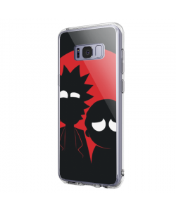 Rick and Morty - Samsung Galaxy S8 Plus Carcasa Transparenta Silicon