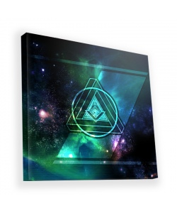 Triangle Galaxy 2 - Canvas Art 90x90