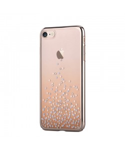 Unique Polka Champagne Gold - Comma iPhone 7 /  iPhone 8 Carcasa (Cristale Swarovski®, electroplacat)