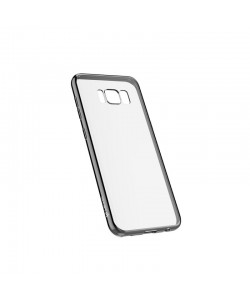 Devia Glitter Soft Gun Black - Samsung Galaxy S8 Plus Carcasa Silicon (margini electroplacate)