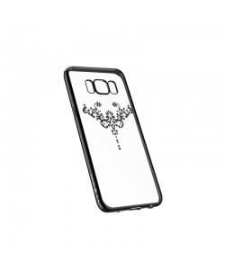 Devia Iris Gun Black - Samsung Galaxy S8 Plus Carcasa Silicon (Cristale Swarovski®)