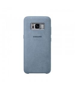 Alcantara Cover Mint - Samsung Galaxy S8 Carcasa Plastic Argintiu