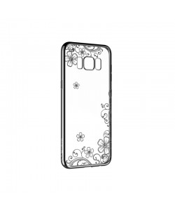 Devia Joyous Gun Black - Samsung Galaxy S8 Carcasa Silicon (Cristale Swarovski®, electroplacat)