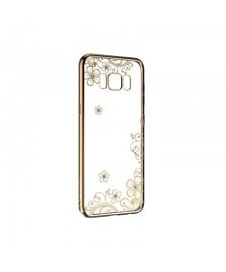 Devia Joyous Champagne Gold - Samsung Galaxy S8 Carcasa Silicon (Cristale Swarovski®, electroplacat)