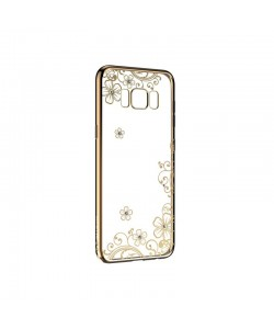 Devia Joyous Champagne Gold - Samsung Galaxy S8 Plus Carcasa Silicon (Cristale Swarovski®, electroplacat)