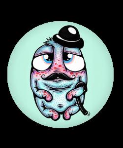 Popsocket Creaturi Dragute - Gentleman, Accesoriu telefon